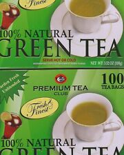 2 PACK PREMIUM GREEN TEA (200 TEA BAGS TOTAL) FACTORY SEALED BOX