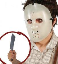 MASCHERA HOCKEY JASON CON MACHETE HORROR HALLOWEEN TRAVESTIMENTO CARNEVALE