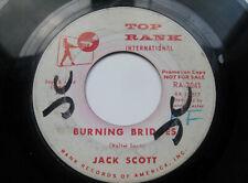"JACK SCOTT ""Burning Bridges / Oh, Little One"" Top Rank Promo VG+"