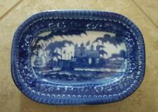 Victoria Ware Ironstone Blue Castle Rectangle 11 Inch Display Platter Plate