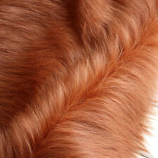 "Brown SHAGGY FAUX FUR FABRIC LONG PILE FUR costumes photo backdrops 60"" BTY"