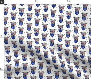 Pit Bull Stars And Stripes Pit Bull Face Pitbull Spoonflower Fabric by the Yard