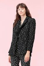 Rebecca Taylor $595 BOUCLE DOT TWEED BLAZER in Black Combo Size 2
