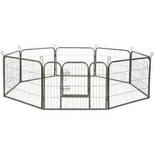 Parc enclos exterieur pour chiot grillage installation ouvert hauteur de 60 cm