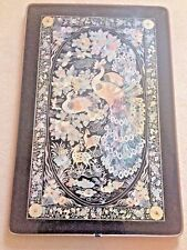 Japanese Korean Lacquer Mother of Pearl Peacock Tea Coffee Table Fold-Up Legs