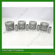 Pistons Set 87mm +0.50mm for KUBOTA V2203-DI (100% TAIWAN MADE) x 4PCS