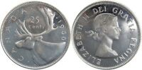 Canada 1960 Silver 25 Cents Choice BU UNC MS-63 Quarter!!