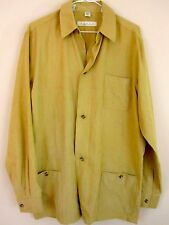 Haupt Shirt 39 15.5 Suede Feel Beige Tan Long Sleeve Button Down Mens