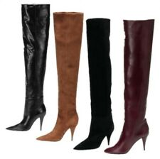 Sexy Ladies Thigh High Over The Knee Boots Womens Slouch Super High Heels Club L