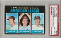 SET BREAK -1971 TOPPS #559 A.L ROOKIE STARS, PSA 8 NM-MT,COX,  CENTERED, TOUGH