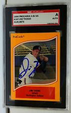 Jim Thome 2018 HOF 1990 ProCards SGC certified autograph- Indians