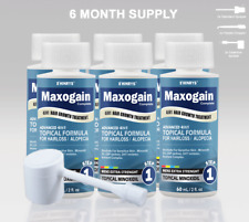 Minoxidil 4in1 Topical Mens Maxogain 6x60mL 5% Active + Nutrient Inhibitor