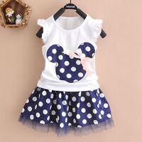 enfants bébé fille Minnie Mouse Mini Robe fête débardeur été jupe vêtements 1-7