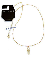 GUESS Schmuck Kette Halskette mit Schmuckstein Necklace Gold Beauty Sonderpreis
