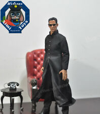 "1:6th Scale Black The Matrix Keanu Reeves Neo Coat  F12"" Male Action Figure Toys"