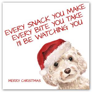 CHRISTMAS Cockapoo Dog Card Funny Xmas Song Lyrics  OPTIONS