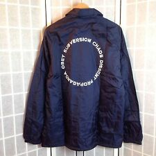 OBEY COACH JACKET/WINDBREAKER-MEN'S 2XL/XXL-NAVY-LINED-NEW WITH TAGS