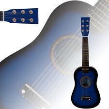 "New 23"" Beginners Practice Acoustic Blue Guitar 6 String Children Kids"