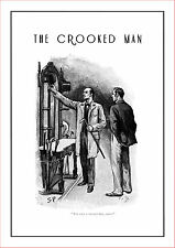 """Sherlock Holmes poster The Crooked Man  11.7"""" x 16.5"""" drawn by Sidney Paget"""
