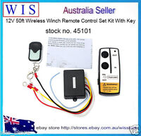 12V 50ft Universal Wireless Winch Remote Control Kit for Car Truck Jeep ATV SUV