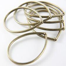 8pcs Antique Brass Tone Base Metal Findings-Teardrop 44x33mm (8327Y-P-123B)