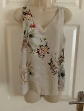 River Island Grey Floral Strapless Top Size 6