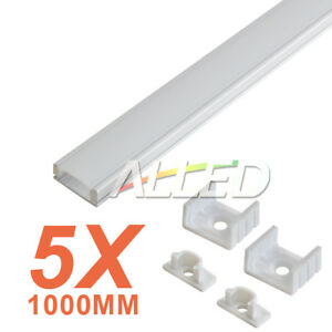 5X1M/100CM Extrusion Alloy Channel Aluminium Bar for LED Strip Light Bathroom
