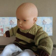 Brown Toddler Sweater, Handmade Baby Clothes Australia