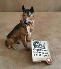German Shephard A Santini for Capodimonte figurine made in Italy sculpture brown