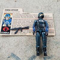 Vintage GI Joe Figure 1982 Cobra Officer complete with file card