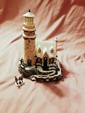 Thomas Kinkade Light Of Peace, Lighthouse, New In Box, Wintertime Decor
