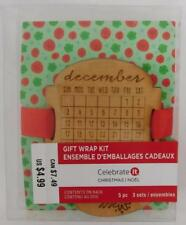 Celebrate It Gift Wrap Kit New Wooden Gift Tags Set of 3 Calendar