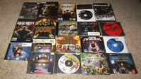 Lot of 18 PC Games Tomb Raider, Fallout 78, Doom 3, Command & Conquer, Black Ops
