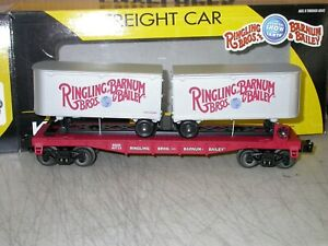 K-Line by Lionel O Ringling Bros Flat Car with 2 Trailers 6-21471 LN