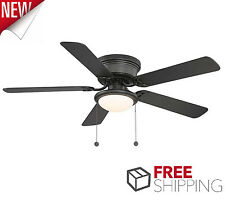 Ceiling fans with remote control ebay ceiling fan with light low profile 52 inches flush mount frosted glass black dry publicscrutiny Image collections