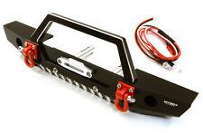 RC Car C26992BLACK Realistic Scale F Bumper w/LED Lights for Axial 1/10 SCX10 II