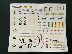 DECALS 1/43 LANCIA LC2 MIRABELLA IMOLA SPA 1000KM NURBURGRING 1983