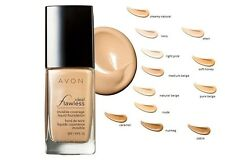 AVON IDEAL FLAWLESS  TRUE COLOUR INVISIBLE COVERAGE FOUNDATION SPF15 ~ BOXED