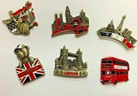 PARIS NEW YORK LONDON STUNNING 3D FRIDGE MAGNET SET OF 6 SOUVENIR UK SELLER