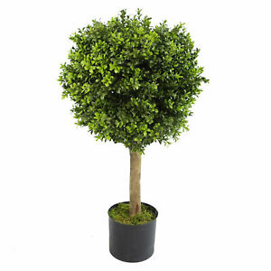 80cm Boxwood Artificial Topiary Buxus Ball Tree - Extra Wide 45cm Diameter LE...