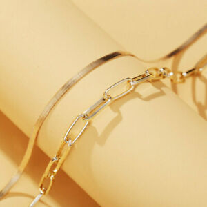 "OLD Vintage Sterling Silver 925 Milor Necklace Italy Herringbone Brass Tone 18"""