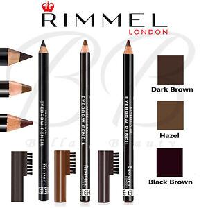 RIMMEL London Eyebrow Pencil with Brush Comb *DARK BROWN / HAZEL / BLACK BROWN*