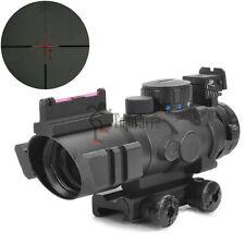 4X 32mm Tactical Optical Fiber Red Green Blue Dot Reticle 20mm Rail Sight Scope