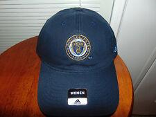 Philadelphia Union Soccer MLS Womens Hat Adidas Cap One Size Ladies BLUE NEW