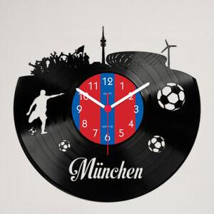 München Fussball Schallplattenuhr