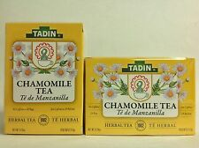 2 BX TADIN CHAMOMILE HERBAL TEA WITH 24 BAGS EA / 2 CAJAS DE TE DE MANZANILLA