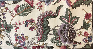"""Pottery Barn Resi Table Throw Runner 50""""x50"""" Tablecloth Palampore Floral"""