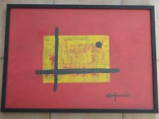 MAX DEPERROIS Abstraction peinture 72cm x 52cm art contemporain XX