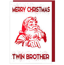 Pretty Sparkling Effect Christmas Card For Twin Brother