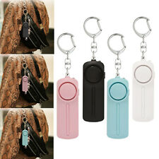 Safety Security Keychain Personal Alarm Emergency Siren Whistle with Led Lights